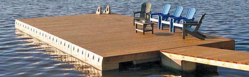 Sandstone bumper float dock