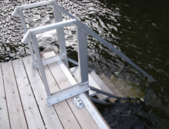 houstonmarinesystems com » >> HMS Aluminum Dock Stairs